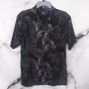 Caribbean Joe Cotton Blend Button Up Shirt Medium